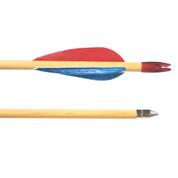 Select Grade Poplar Shaft Wooden Archery Arrows - Dozen - 28 Inch