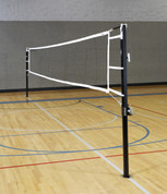 "3 1/2"" Aluminum USVBA Power Volleyball System Set with Net and Standards"