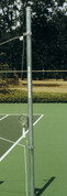 """Outdoor Volleyball Galvanized Steel End Standard/Post with Winch - 2 3/8"""" by Stackhouse"""