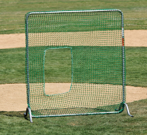 Softball Fast Pitch Pitcher's Safety Screen for Batting Practice by Stackhouse