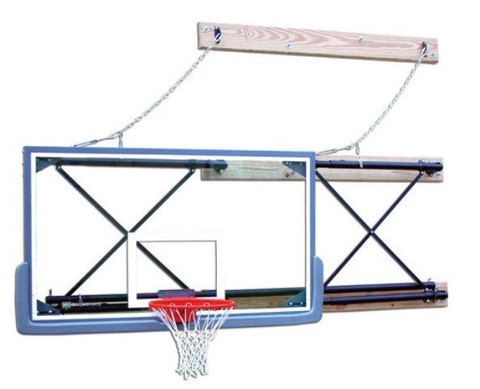 Four Point Side Fold Wall Mount Basketball Goal 6ft to 9ft Extension - Gared Sports 2500-6094