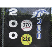 White Baseball w/ Horizontal Numbers (3'D)