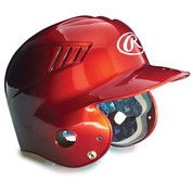 Junior Two-tone Batting Helmet - Scarlet