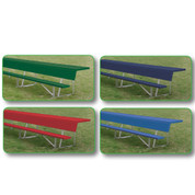 15' Players Bench with Shelf (colored) - Green
