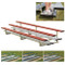 2 Row 21' Powder Coated Pref. Bleachers - Red
