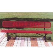 8' Custom Lettered Bench - Surface Mount