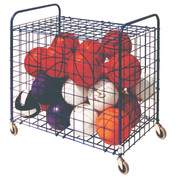 Lockable Ball Storage Locker for Up To 24 Basketballs