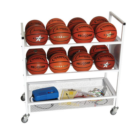 Double Wide Ball Cart for up to 16 Basketballs