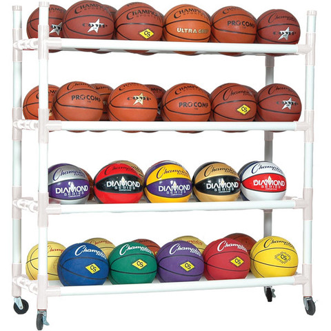 Heavy-Duty Cart For up to 40 Basketballs