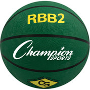 Champion Sports Junior Size Pro Rubber Basketball - Green