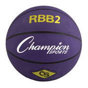 Champion Sports Junior Size Pro Rubber Basketball - Purple
