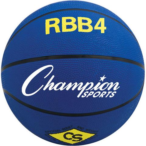 Champion Sports Intermediate Size Pro Rubber Basketball - Blue