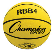 Champion Sports Intermediate Size Pro Rubber Basketball - Yellow