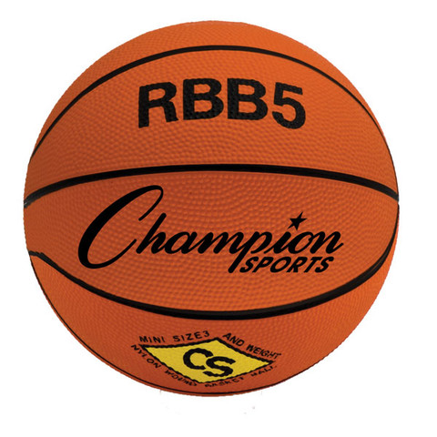 Champion Sports Mini Size Pro Rubber Basketball - Orange