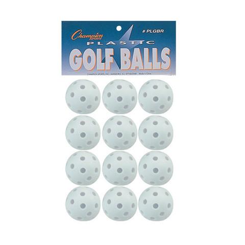 Plastic Golf Ball Retail Pack - Set of 12