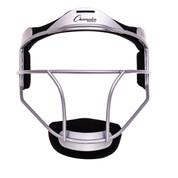 Silver Adult Softball Fielder's Face Mask