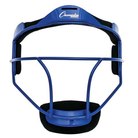 Blue Youth Softball Fielder's Face Mask