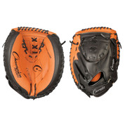 """Youth Leather Catcher's Mitt - 32"""" - Black/Brown"""