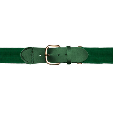 "Dark Green Adjustable Youth Baseball Uniform Belt - Size 18"" - 32"""
