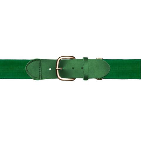 "Kelly Green Adjustable Youth Baseball Uniform Belt - Size 18"" - 32"""