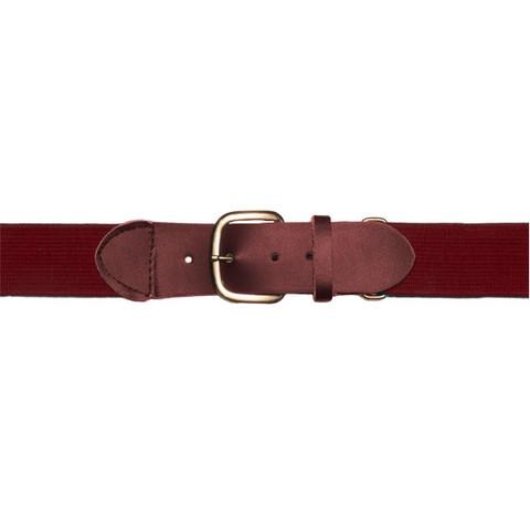 """Maroon Adjustable Youth Baseball Uniform Belt - Size 18"""" - 32"""""""