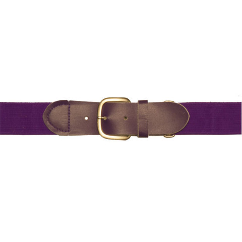 "Purple Adjustable Youth Baseball Uniform Belt - Size 18"" - 32"""