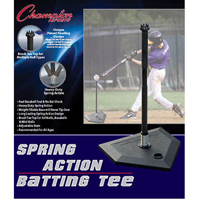 Champion Sports Spring Action Baseball Batting Tee