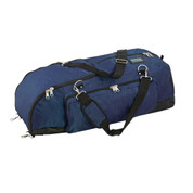 Champion Sports Ultra Deluxe Nylone Baseball Player Bag - Navy Blue