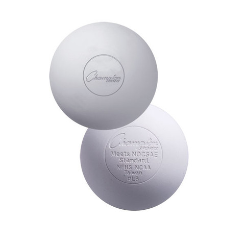 NOCSAE White Official Lacrosse Ball - NCAA/NFHS Approved