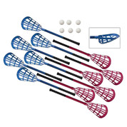 Ultra Foam Grip 12 Stick Lacrosse Set - 6 Royal Blue and 6 Red