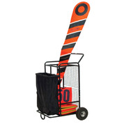 Football Field Equipment Cart with Pneumatic Tires