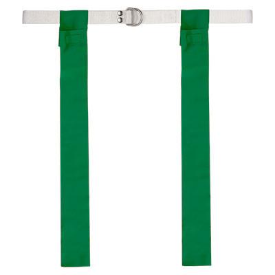 Green Velcro Flag Football Belt Set of 12