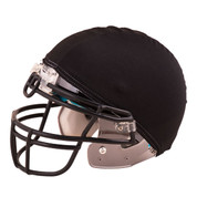 Black Nylon Stretch Football Helmet Cover