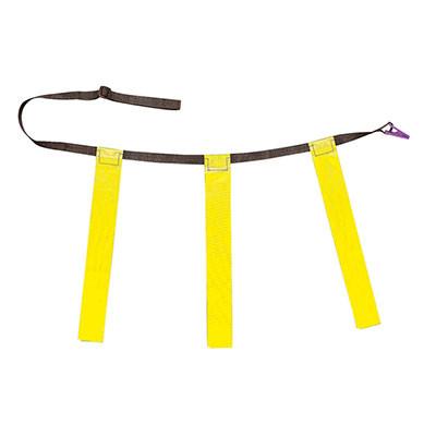 Yellow Youth Triple Flag Football Belt Set of 12