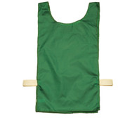 Green Heavyweight Nylon Youth Pinnie Vest Set of 12