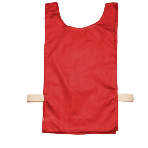 Red Heavyweight Nylon Youth Pinnie Vest Set of 12