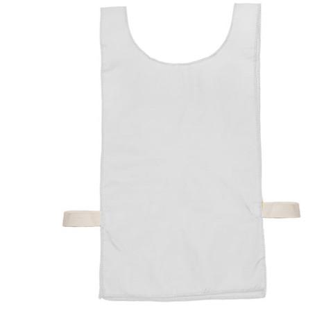 White Heavyweight Nylon Youth Pinnie Vest Set of 12