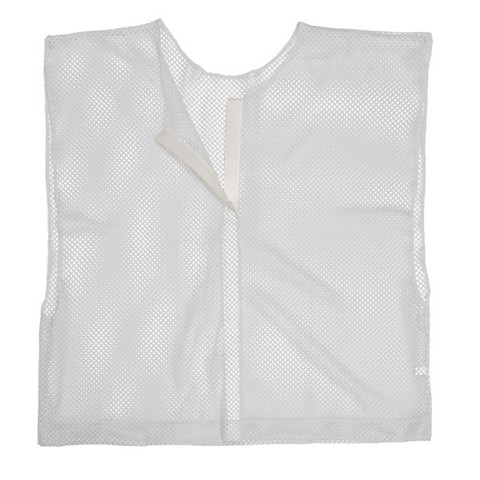 White Adult Size Velcro Front Deluxe Mesh Scrimmage Vest - Ideal for Football & Hockey