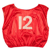 Practice Youth Numbered Youth Scrimmage Vest - Red