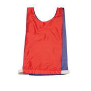 Adult Reversible Pinnie Vest - Blue/Red