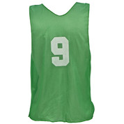 Adult Numbered Nylon Micro Mesh Practice Vest - Green