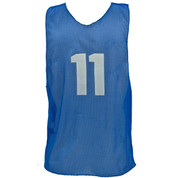 Youth Numbered Nylon Micro Mesh Practice Vest - Royal Blue