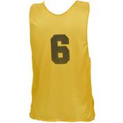 Youth Numbered Nylon Micro Mesh Practice Vest - Yellow