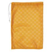 """Gold Drawstring Quick Dry Mesh Equipment Bag -12"""" x 18"""""""