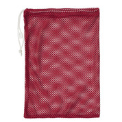 "Red Drawstring Quick Dry Mesh Equipment Bag -12"" x 18"""