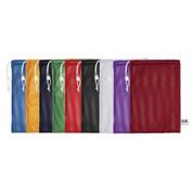 "Red Drawstring Quick Dry Mesh Equipment Bag Set of 6 - Size:12"" x 18"""