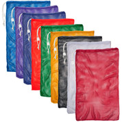 "Red Drawstring Quick Dry Mesh Equipment Bag Set of 6 - Size:24"" x 36"""