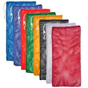 "Red Drawstring Quick Dry Mesh Equipment Bag Set of 6 - Size:24"" x 48"""
