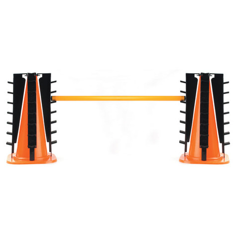 Polymetric Training Hurdle Cone Set - Orange/Black