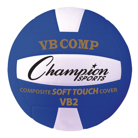 VB Pro Comp Series IVBF Approved Volleyball, Blue and White